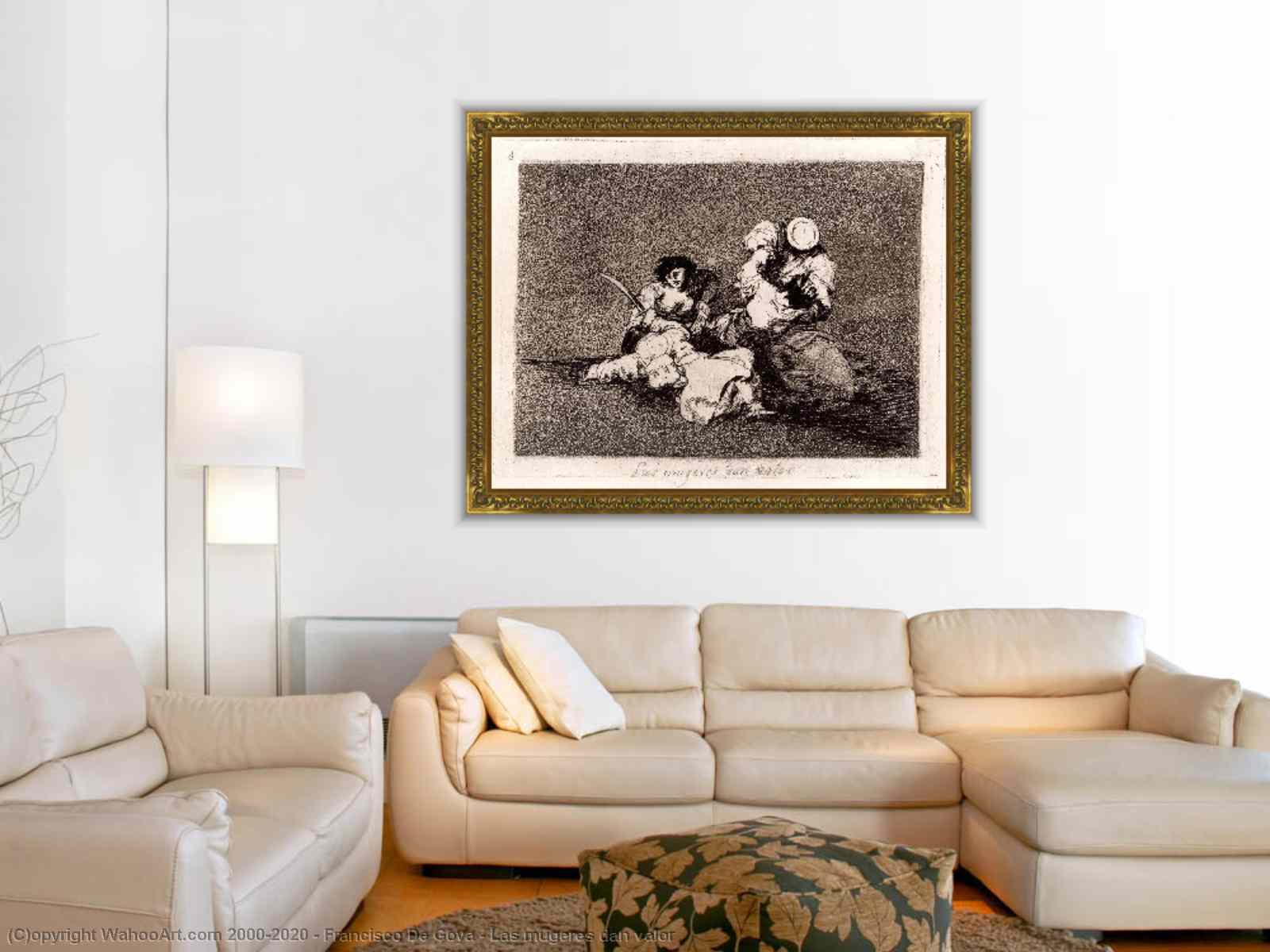 Las mugeres dan valor by Francisco De Goya | Reproductions Pop Art ...